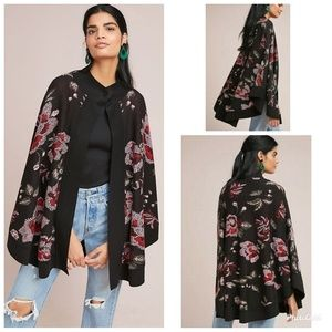 Anthropologie LAIA Monica Floral Poncho